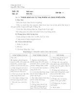 Giáo án sinh học 9 - Kì II