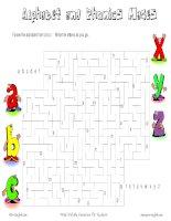 Alphabet and Phonics Mazes pps