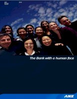 annual report 2001 the bank with a human face ANZ