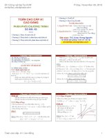 Bài giảng toán cao cấp a1 cao đẳng   đh công nghiệp TP HCM