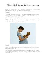 Những bệnh lây truyền từ mẹ sang con docx