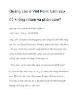 Quảng cáo ở Việt Nam: Làm sao để không nhàm và phản cảm? potx