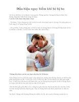 Dấu hiệu nguy hiểm khi bé bị ho docx