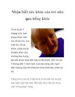 Nhận biết sức khỏe của trẻ nhỏ qua tiếng khóc docx