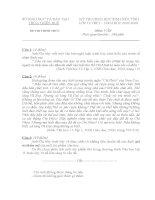 Đề thi+ Đáp án HSG Ngữ văn 12(Huế)