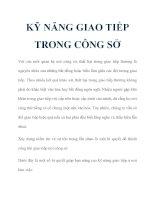KỸ NĂNG GIAO TIẾP TRONG CÔNG SỞ ppt