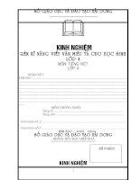 SKKN : Rèn kĩ năng viết văn miêu tả lớp 4