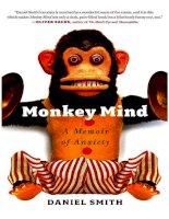 monkey mind  a memoir of anxiety   daniel smith