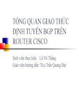 tổng quan giao thức định tuyến bgp trên router cisco - svth  lê vũ thắng
