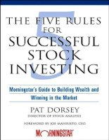 The five rules for successful stock investing Part 1 pps