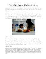 Các bệnh đường tiêu hóa ở trẻ em pps
