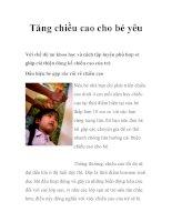 Tăng chiều cao cho bé yêu pdf