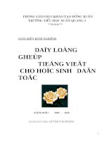 skkn:Dạy long ghep tieng viet cho hoc sinh dan toc