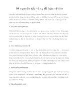 10 nguyên tắc vàng để bảo vệ tim potx
