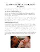 Xịt nước muối biển có thật sự tốt cho trẻ nhỏ? pptx