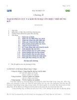 Chương II: MẠCH PHÂN CỰC VÀ KHUẾCH ÐẠI TÍN HIỆU NHỎ DÙNG BJT pdf