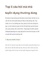 Top 5 câu hỏi mà nhà tuyển dụng thường dùng pdf