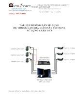 tài liệu hướng dẫn sử dụng hệ thống camera giám sát vietsens sử dụng card dvr