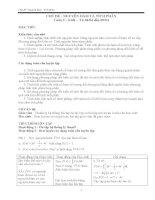 Ôn thi TNPT - Giáo án - Chủ đề Nguyên hàm - Tích phân