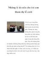 Những lý do nên cho trẻ con tham dự lễ cưới doc