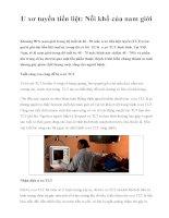 U xơ tuyến tiền liệt: Nỗi khổ của nam giới doc