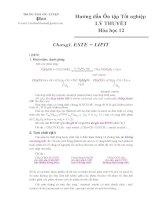 Hướng dẫn Ôn thi Tốt nghiệp Lý thuyết 12 Hóa
