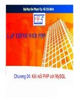 bài giảng lập trình web php - chương 04  kết nối php với mysql - trường đh sp tp. hcm
