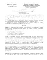 Nghị định 15/2006/QD-BTC bằng tiếng Anh docx