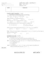 Đề kiểm tra toán 9-Chương IV Hàm số