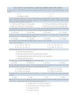 BÀI TẬP ÔN THI TN THPT 12- CHƯƠNG 6