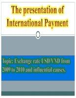 Thuyết trình thanh toán quốc tế