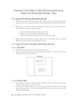 Chương 1: Giới thiệu về lập trình hướng đối tượng docx