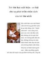 Trẻ thứ hai xuất hiện - cơ hội cho sự phát triển nhân cách của trẻ thứ nhất pot