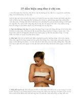 15 dấu hiệu ung thư ở chị em pot