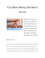 Các bệnh đường tiêu hóa ở trẻ em docx