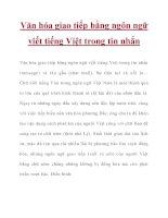 Văn hóa giao tiếp bằng ngôn ngữ viết tiếng Việt trong tin nhắn pot