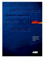 1998 ANNUAL REPORT AUSTRALIA AND NEW ZEALAND BANKING GROUP LIMITED customers perfomance transformation people unique