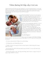 Viêm đường hô hấp cấp ở trẻ em doc