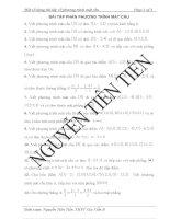 Hệ thống bài tập về phương trình mặt cầu