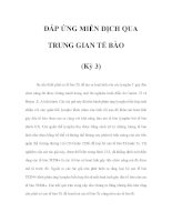 ÐÁP ỨNG MIỄN DỊCH QUA TRUNG GIAN TẾ BÀO (Kỳ 3) pdf