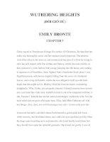 LUYỆN ĐỌC TIẾNG ANH QUA CÁC TÁC PHẨM VĂN HỌC –WUTHERING HEIGHTS (ĐỒI GIÓ HÚ) EMILY BRONTE CHAPTER 7 pdf