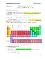 Chương 3: Hệ thống tuần hoàn các nguyên tố hóa học pps