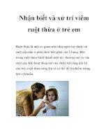 Nhận biết và xử trí viêm ruột thừa ở trẻ em ppt