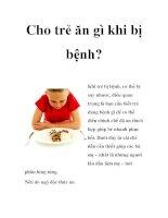 Cho trẻ ăn gì khi bị bệnh? pdf