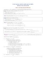 Ôn thi ĐH: Chuyên đề hàm số và các bài toán liên quan đến kshs