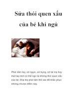 Sửa thói quen xấu của bé khi ngủ pdf