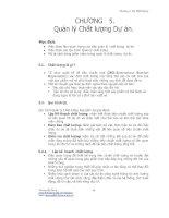Chương 5: Quản Lý Chất lượng Dự Án potx