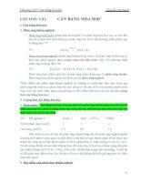 Chương 8: Cân bằng hóa học doc