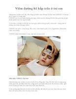 Viêm đường hô hấp trên ở trẻ em pot