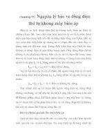 tính toán thiết kế bảo vệ rơ le cho trạm biến áp 110 KV Vân Đình, chương 11 pps
